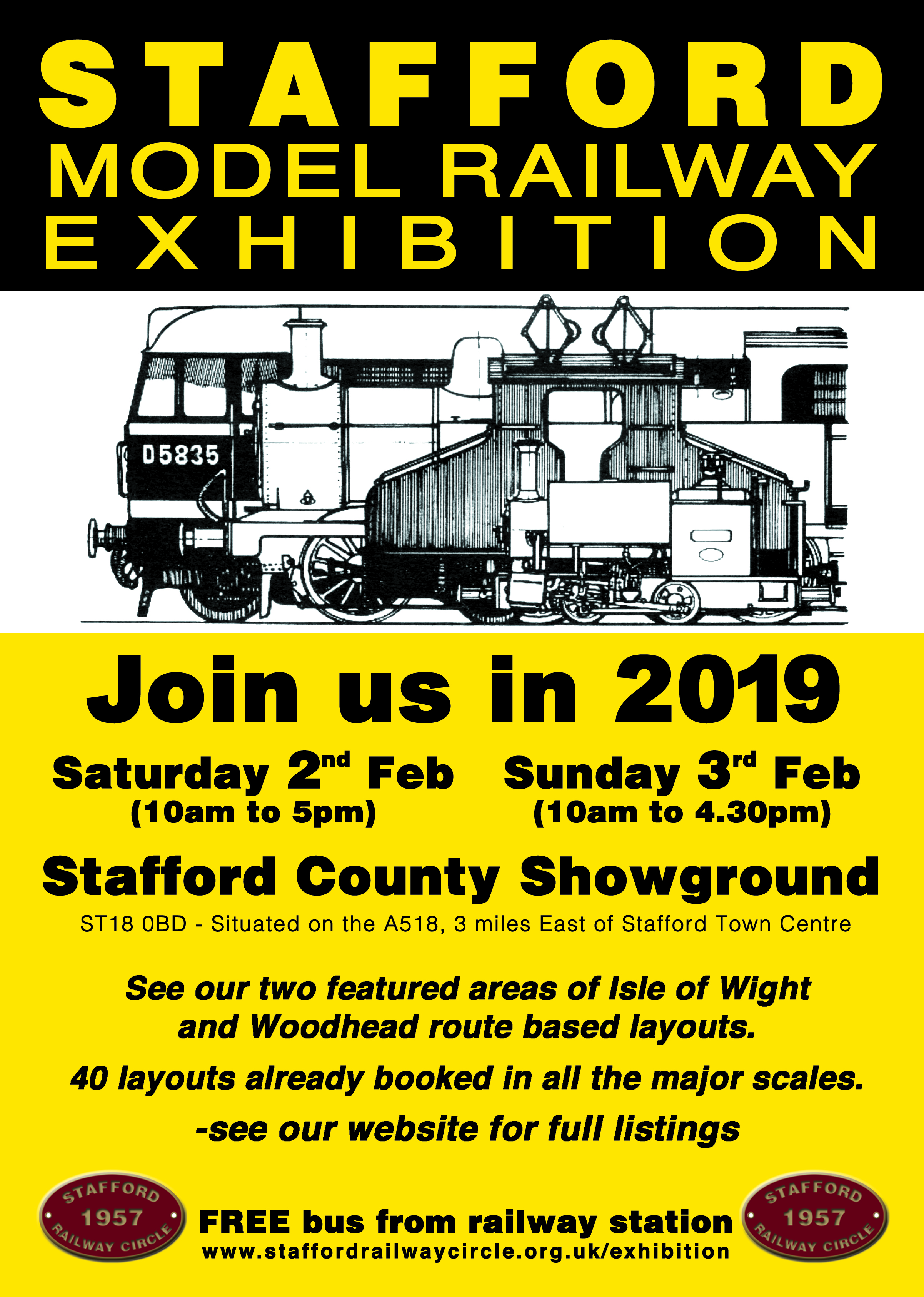 2019 EXHIBITION POSTER – Stafford Railway Circle